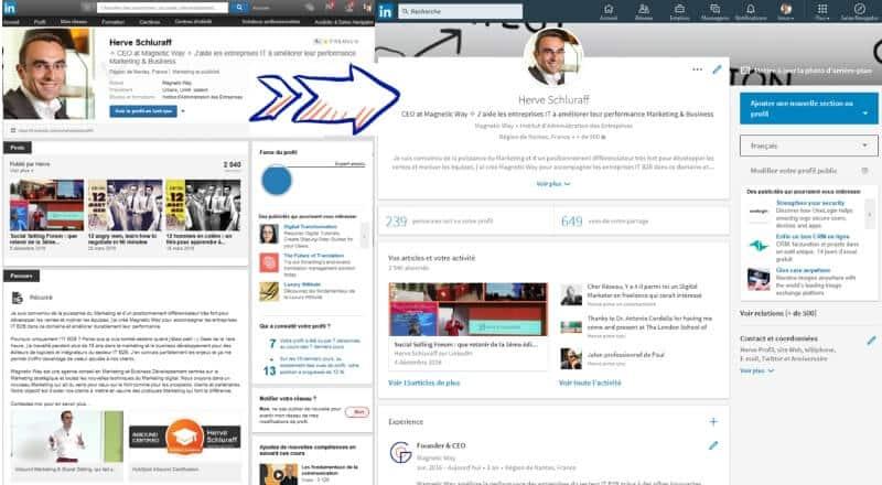 Nouvelle interface LinkedIn : les différences