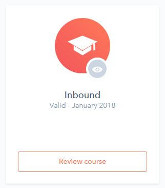 Certification Inbound HubSpot renouvelée pour 1 an