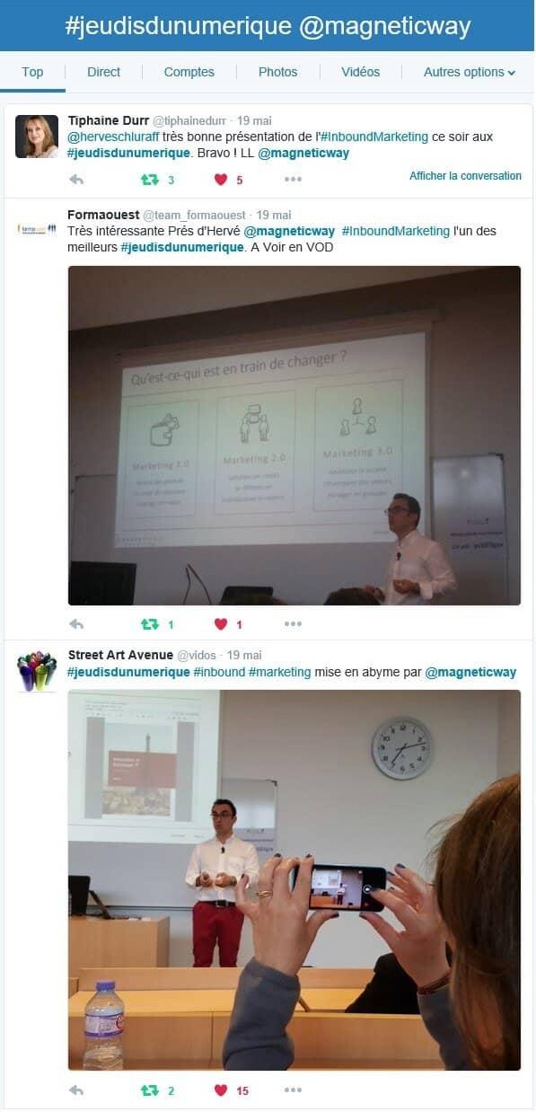 Top tweets de la conférence Magnetic Way sur l'Inbound Marketing & le Social Selling